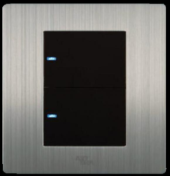 Công tắc LED đôi, một chiều A69-BK2A
