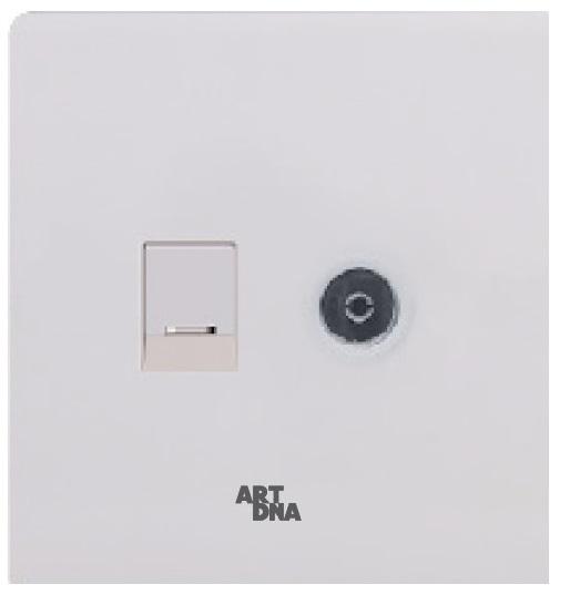Ổ cắm mạng máy tính + Ổ cắm TV A38-E0203